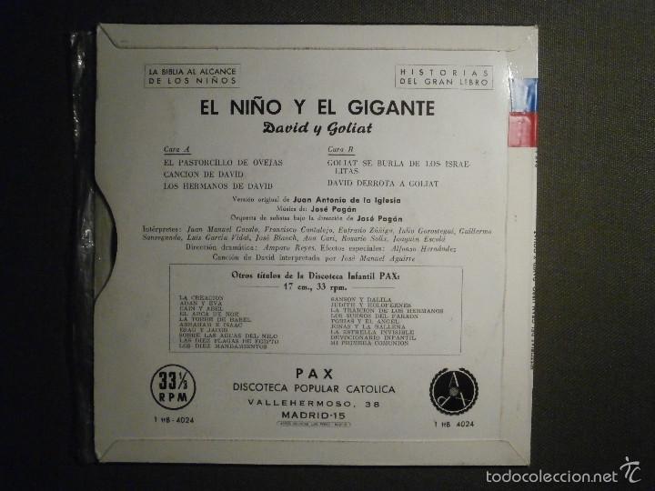 Discos de vinilo: HISTORIAS DEL GRAN LIBRO - DAVID Y GOLIATH - 1 TTB-4024 - 1961 - LA BIBLIA AL ALCANCE DE TODOS - Foto 2 - 58330939