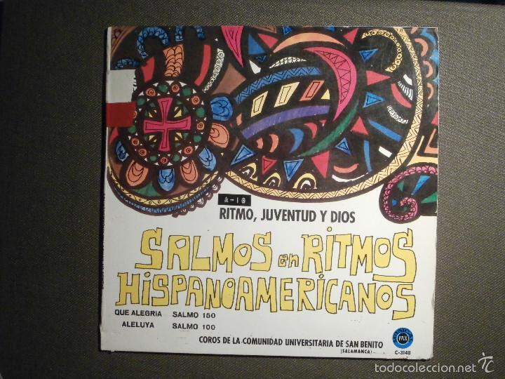 DISCO - VINILO - EP - SALMOS Y RITMOS HISPANOAMERICANOS - MUSICA RELIGIOSA - SALMO 100, 150, 121 (Música - Discos de Vinilo - EPs - Otros estilos)