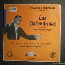 Discos de vinilo: DISCO - VINILO - EP - PRELUDIOS E INTERMEDIOS - LAS GOLONDRINAS - GRAN ORQUESTA SINFÓNICA - Nº 8. Lote 58331012