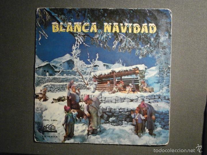 DISCO - VINILO - EP - VILLANCICOS - BLANCA NAVIDAD - REGAL - 1958 - SEBL 7.065 (Música - Discos de Vinilo - EPs - Música Infantil)