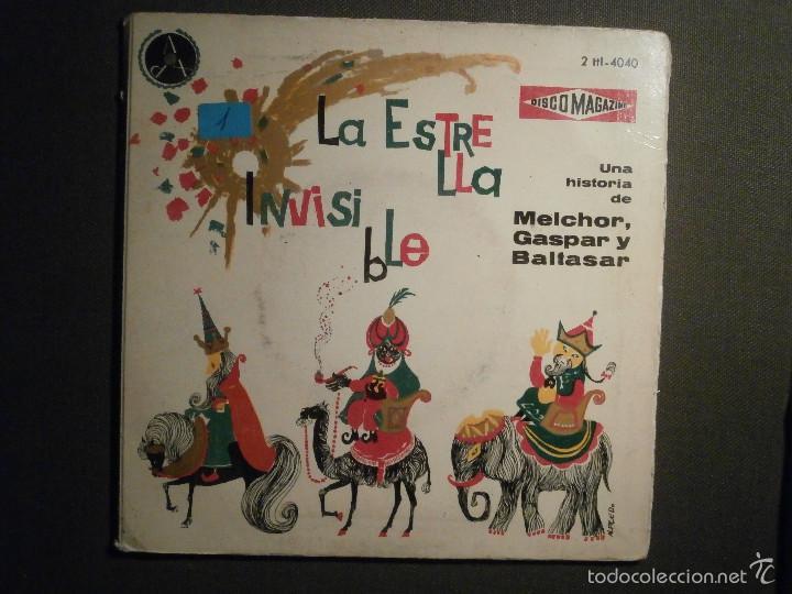 DISCO MAGAZINE - VINILO - EP - LA ESTRELLA INVISIBLE - UNA HISTORIA DE MELCHOR, GASPAR Y BALTASAR (Música - Discos de Vinilo - EPs - Otros estilos)