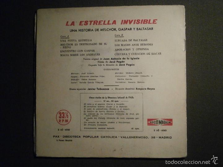 Discos de vinilo: DISCO MAGAZINE - VINILO - EP - LA ESTRELLA INVISIBLE - UNA HISTORIA DE MELCHOR, GASPAR Y BALTASAR - Foto 5 - 58331041