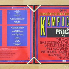 Discos de vinilo: CONCERTS FOR THE PEOPLE OF KAMPUCHEA - PAUL MCCARTNEY (BEATLES), WHO,QUEEN,PRETENDERS,COSTELLO,ETC. Lote 58335336