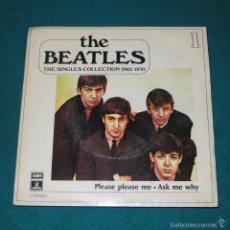 Discos de vinilo: THE BEATLES - PLEASE PLEASE ME (RARO SINGLE PROMOCIONAL) (SINGLES COLLECTION EDICIÓN ESPAÑOLA). Lote 58335473
