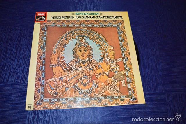 IMPROVISATIONS (YEHUDI MENUHIN - RAVI SHANKAR - JEAN-PIERE RAMPAL) (Música - Discos - Singles Vinilo - Étnicas y Músicas del Mundo)