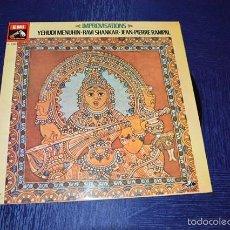 Discos de vinilo: IMPROVISATIONS (YEHUDI MENUHIN - RAVI SHANKAR - JEAN-PIERE RAMPAL). Lote 58340452