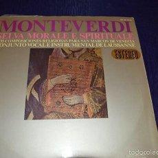 Discos de vinilo: SELVA MORALE E SPIRITUALE - MONTEVERDI. Lote 58340562