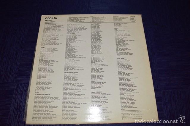 Discos de vinilo: AMOR DE MEDIANOCHE - CECILIA - Foto 2 - 58340668
