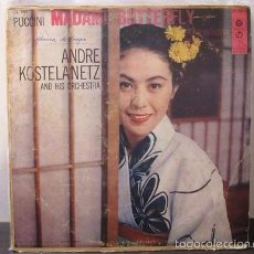 Discos de vinilo: PUCCINI MADAME BUTTERFLY OPERA FOR ORCHESTRA ANDRE KOSTELANETZ LP D2 VG. Lote 58341021