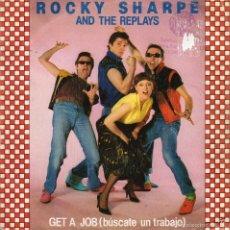 Discos de vinilo: ROCKY SHARPE - GET A JOB - SINGLE. Lote 58341708