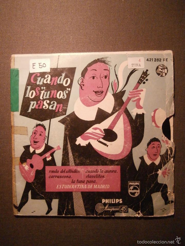 DISCO - VINILO - EP - CUANDO LOS TUNOS PASAN - PHILIPS - (Música - Discos de Vinilo - EPs - Otros estilos)