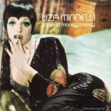 Discos de vinilo: LIZA MINNELLI - CABARET / MONEY,MONEY - INGLE. Lote 58347108