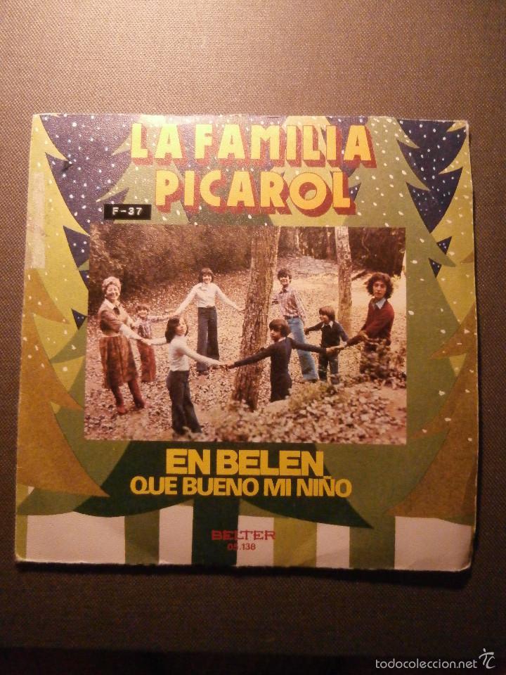 DISCO - VINILO - SINGLE - VILLANCICOS - LA FAMILIA PICAROL - BELTER - 1975 (Música - Discos - Singles Vinilo - Música Infantil)