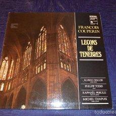 Discos de vinilo: FRANÇOIS COUPERIN - LEÇONS DE TENEBRES. Lote 58357466