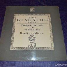 Discos de vinilo: CARLO GESUALDO DI VENOSA - DELLER CONSORT. Lote 58357503