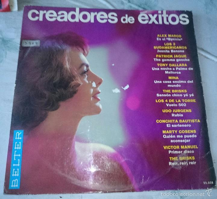 CREADORES DE EXITOS (THE BRISKS, ALEX MARCO, VÍCTOR MANUEL, MINA...) (BELTER 1966) (Música - Discos - LP Vinilo - Grupos Españoles 50 y 60)