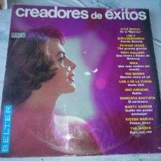 Discos de vinilo: CREADORES DE EXITOS (THE BRISKS, ALEX MARCO, VÍCTOR MANUEL, MINA...) (BELTER 1966). Lote 58374227