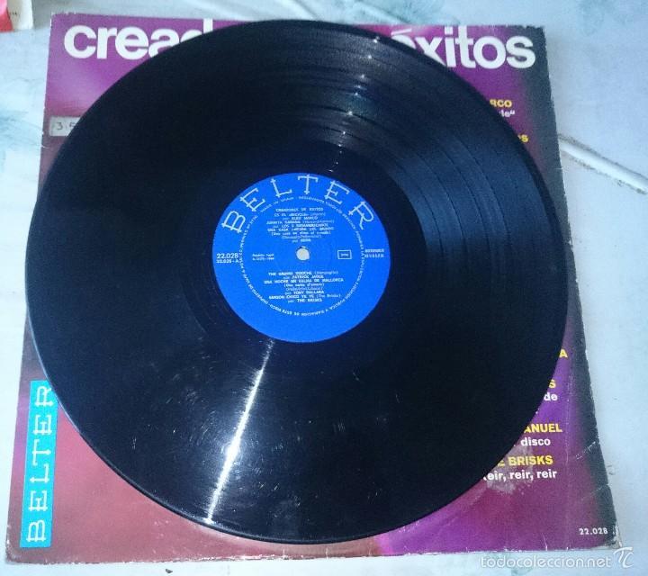 Discos de vinilo: CREADORES DE EXITOS (THE BRISKS, Alex marco, víctor Manuel, Mina...) (BELTER 1966) - Foto 2 - 58374227