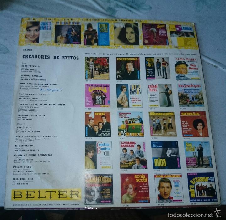 Discos de vinilo: CREADORES DE EXITOS (THE BRISKS, Alex marco, víctor Manuel, Mina...) (BELTER 1966) - Foto 4 - 58374227