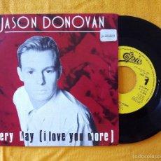 Discos de vinilo: JASON DONOVAN, EVERY DAY I LOVE YOU MORE (CBS) SINGLE PROMOCIONAL 1 SOLA CARA. Lote 58376184