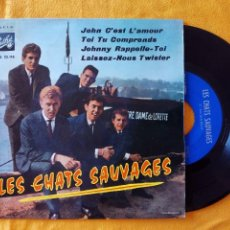 Discos de vinilo: CHATS SAUVAGES, LES - JOHN C'EST L'AMOUR (PATHE 1963) SINGLE EP ESPAÑA - CON DICK RIVERS. Lote 58376634