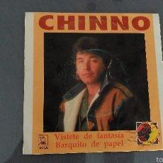 Discos de vinilo: CHINNO.VISTETE DE FANTASIA / BARQUITO DE PAPEL. HORUS 1990. Lote 58384299