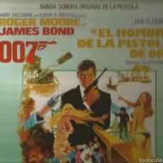 Discos de vinilo: JAMES BOND, EL HOMBRE DE LA PISTOLA DE ORO LP SELLO UNITED ARTIST AÑO 1975 EDITADO EN ESPAÑA. . Lote 58386023