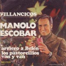 Discos de vinilo: VILLANCICOS - MANOLO ESCOBAR -- SINGLE. Lote 58389340