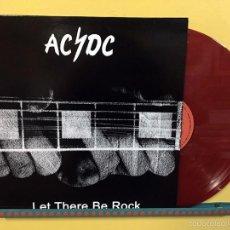 Discos de vinilo: AC/DC LP LET THERE BE ROCK VINILO COLOR ROJO EDICIÓN AUSTRALIANA PORTADA DISTINTA MUY RARO. Lote 195255378
