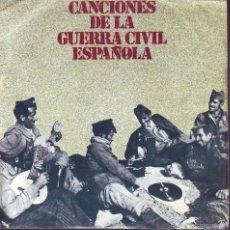 Discos de vinilo: CANCIONES DE LA GUERRA CIVIL ESPAÑOLA -- SINGLE EP. Lote 58390192