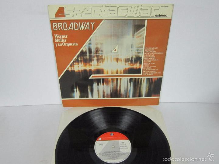 WERNER MÜLLER - BROADWAY ESPECTACULAR 4 FASES - LP - TELEFUNKEN 1983 SPAIN PROMO (Música - Discos - LP Vinilo - Orquestas)