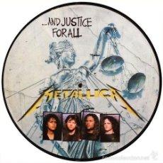 Discos de vinilo: METALLICA LP AND JUSTICE FOR ALL VINILO PICTURE DISC MUY RARO BRASIL COLECCIONISTA. Lote 58397290