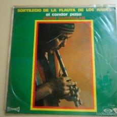 Discos de vinilo: L.P. SORTILEGIO DE LA FLAUTA DE LOS ANDES, EL CONDOR PASA. FACIO SANTILLAN, 10 CANCIONES.. Lote 58398346