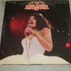 Discos de vinilo: DONNA SUMMER - LIVE AND MORE - DOBLE LP - DOBLE PORTADA - USA - 135. Lote 58398622