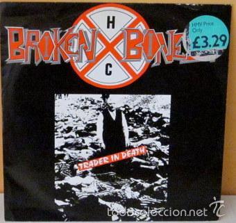 BROKEN BONES - TRADER IN DEATH 12 ENGLAND - RFB SIN 4 - 1987 (Música - Discos de Vinilo - Maxi Singles - Punk - Hard Core)
