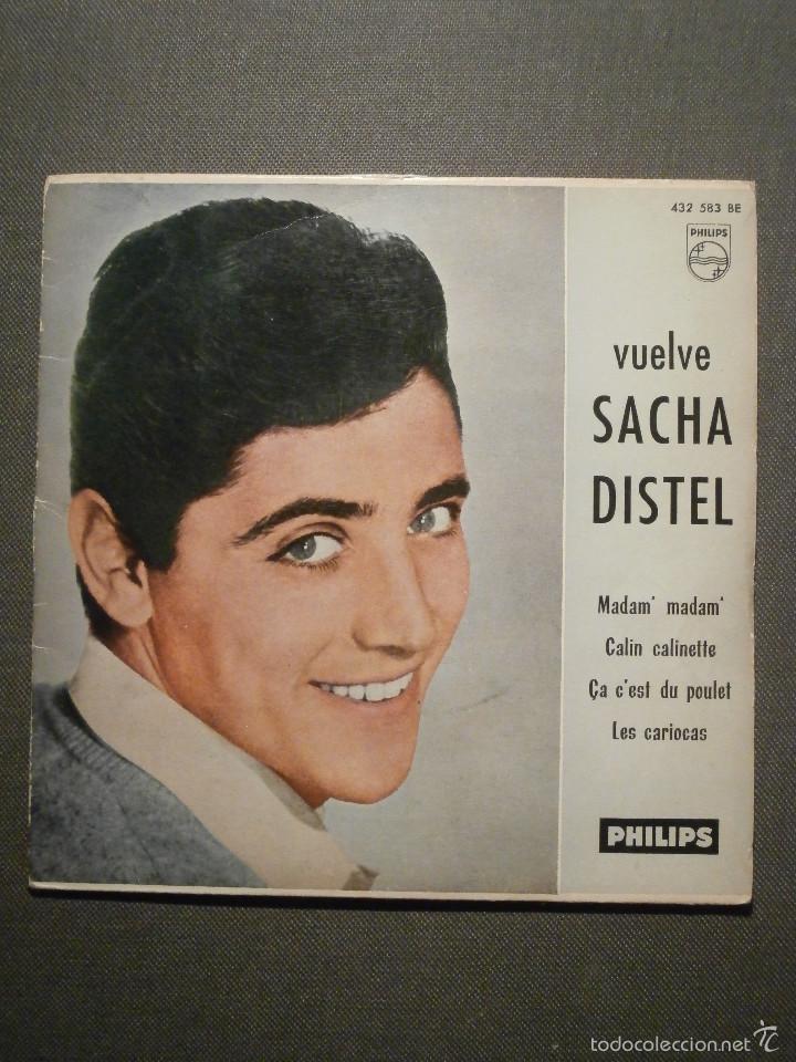 DISCO - VINILO - EP - VUELVE SACHA DISTEL - MADAM' MADAM' / CALIN CALINETTE + 2 - PHILIPS - 1961 (Música - Discos de Vinilo - EPs - Canción Francesa e Italiana)