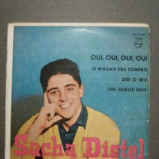 Discos de vinilo: DISCO - VINILO - EP - VUELVE SACHA DISTEL - OUI, OUI, OUI, OUI. - DISI O DISI + 2 - PHILIPS - 1959. Lote 58409814