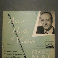 Discos de vinilo: DISCO - VINILO - EP - FRANK POURCEL - AMOR, BAILE Y VIOLINES - LA VOZ DE SU AMO - 1958. Lote 58409879