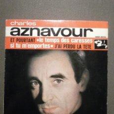 Discos de vinilo: DISCO - VINILO - EP - CHARLES AZNAVOUR - ET POURTANT + 3 - BARCLAY - 1963. Lote 58409968