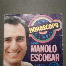 Discos de vinilo: DISCO - VINILO - SINGLE - MANOLO ESCOBAR - HOROSCOPO - PROTESTA DE AMOR - BELTER - 1972. Lote 58410663