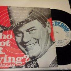 Discos de vinilo: MUSICA SINGLE T. R. DALLAS WHO SHOT J. R. EWING OJC. Lote 58410815