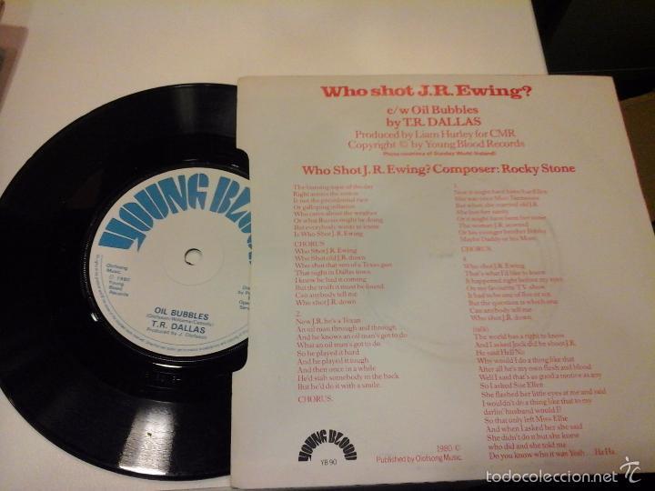 Discos de vinilo: musica single t. r. dallas who shot j. r. ewing ojc - Foto 2 - 58410815