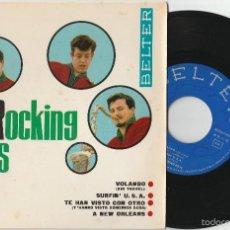 Discos de vinilo: THE ROCKING BOYS - VOLANDO + 3 (EP BELTER 1963). Lote 153056408