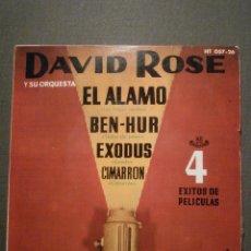 Discos de vinilo: DISCO - VINILO - EP - DAVID ROSE Y SU ORQUESTA - EL ALAMO - BENHUR + 2 - HISPAVOX - 1961. Lote 58411397
