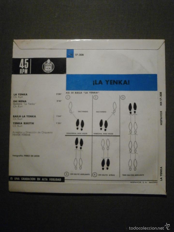 Discos de vinilo: DISCO - VINILO - EP - LA YENKA - POR SUS CREADORES - EH NENA + 3 - HISPAVOX - 1954 - Foto 2 - 58411449