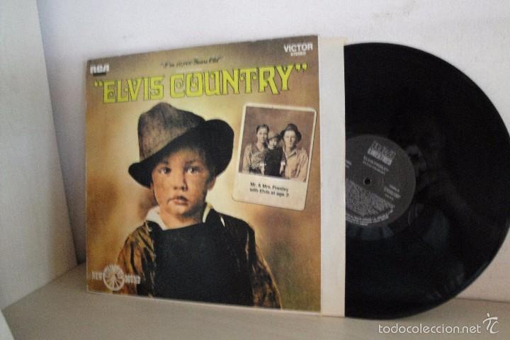 ELVIS COUNTRY-RCA MADRID- 1987- (Música - Discos - LP Vinilo - Pop - Rock - Extranjero de los 70)
