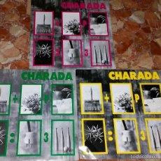 Discos de vinilo: LOTE DE 3 SINGLES DE CHARADA. Lote 58413392