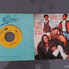 Discos de vinilo: LOTE 2 SINGLES DE CHICOS DE TASS UNO DE LOS TEMAS ES DE ALEJANDRO SANZ SON PROMO. Lote 58414475