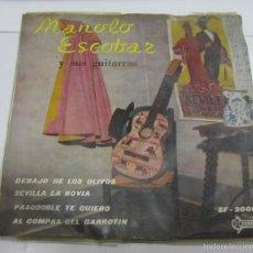 Discos de vinilo: SINGLE. MANOLO ESCOBAR Y SUS GUITARRAS. SAEF. SF-2000. Lote 58422545