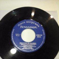 Discos de vinilo: MUSICA SINGLE FUNDADOR CANCIONES SIN PALABRAS OJC . Lote 58424848